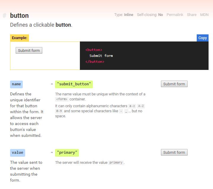 Definición etiqueta button