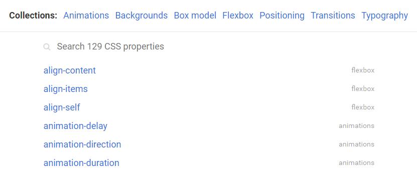 CSS Reference - Propiedades